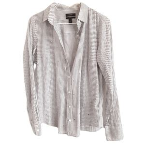 J. Crew Button Down Embellished Perfect Shirt